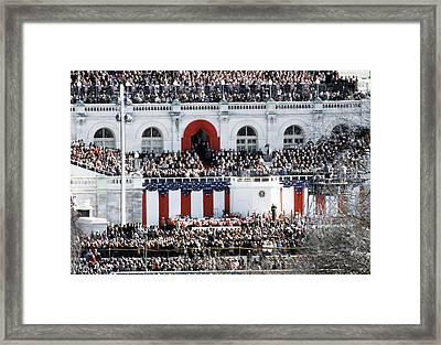 First Inauguration Of Bill Clinton Framed Print by Everett