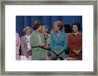 First Ladies Rosalynn Carter With Betty Framed Print by Everett
