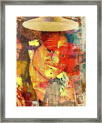 First Lady - The Republic In Mind Framed Print by Fania Simon