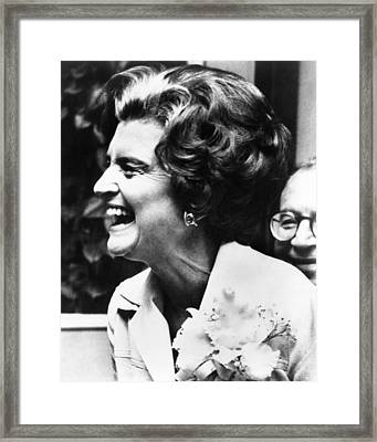 First Lady Betty Ford�s Campaigning Framed Print by Everett