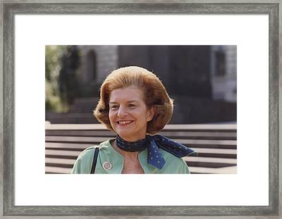 First Lady Betty Ford In Helsinki Framed Print by Everett