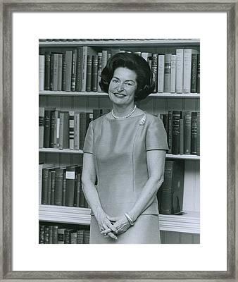 First Lady, Lady Bird Johnson, In 1964 Framed Print by Everett