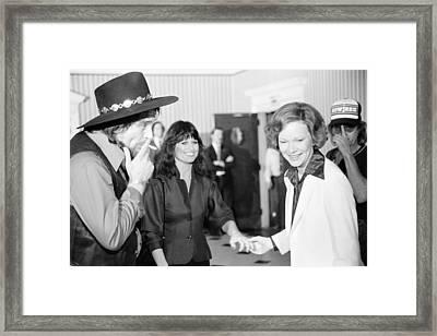 First Lady Rosalynn Carter With Waylon Framed Print by Everett