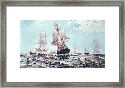 First Recognition Of The Stars And Stripes Framed Print by Edward Moran