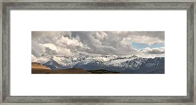 First Snow 2012 Rocky Mountains Framed Print by Larry Darnell