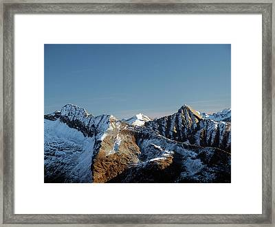 First Snow On The Mountains Framed Print by Buena Vista Images