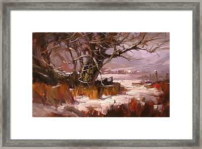 First Snow Framed Print by Richard Robinson