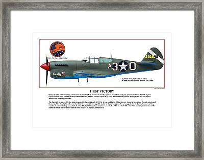 First Victory Framed Print by Jerry Taliaferro