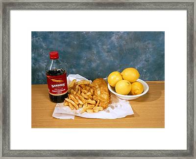Fish And Chips Framed Print by Andrew Lambert Photography