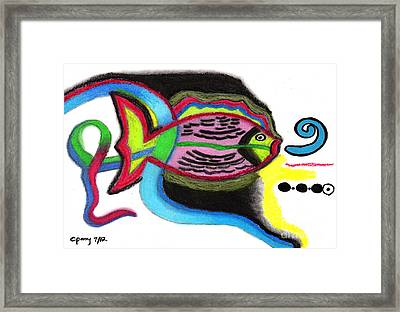 Fish Design 2 Framed Print by Christine Perry