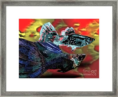 Fish In Digital Art Framed Print by Mario Perez