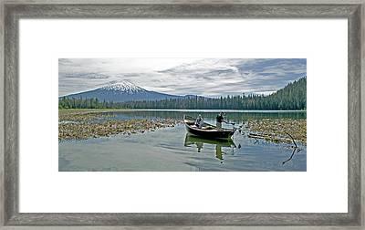 Fish On Framed Print by Earl Berg