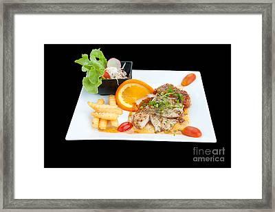 Fish Steak Framed Print by Atiketta Sangasaeng