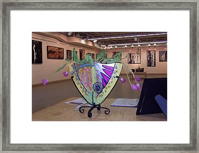 Fish Vase Framed Print by Krista Ouellette