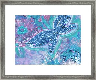 Fish Wants To Fly And Butterfly Wants To Swim Framed Print by Anne-Elizabeth Whiteway