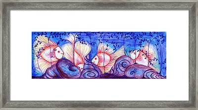 Fishes Framed Print by Hong Diep Loi