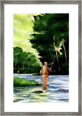 Fishin' The Hatch Framed Print by Jeff Mathison