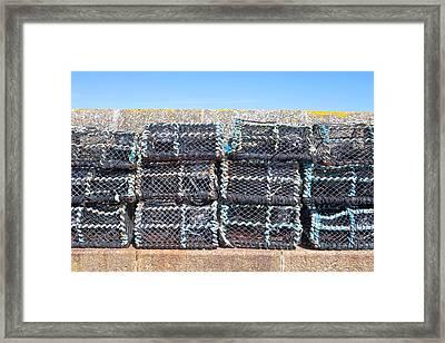 Fishing Baskets Framed Print by Tom Gowanlock