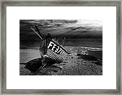 fishing boat FE371 Framed Print by Meirion Matthias