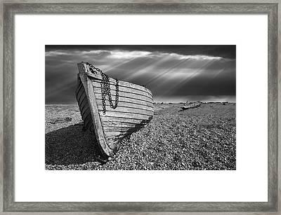 Fishing Boat Graveyard 2 Framed Print by Meirion Matthias