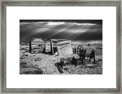 Fishing Boat Graveyard 4 Framed Print by Meirion Matthias