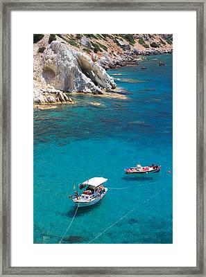 Fishing Boats 2  Framed Print by Emmanuel Panagiotakis