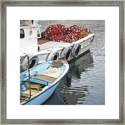 Fishing Boats Framed Print by Glennis Siverson