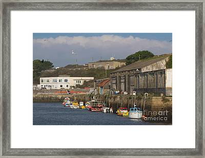 Fishing Boats Hayle Harbour Framed Print by Brian Roscorla