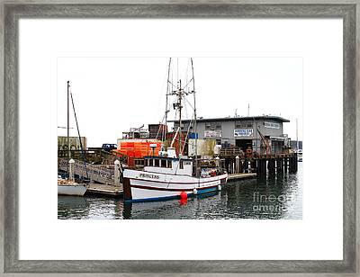 Fishing Boats In Pillar Point Harbor At Half Moon Bay California . 7d8210 Framed Print by Wingsdomain Art and Photography