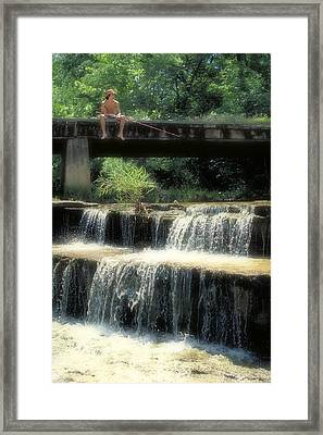 Fishing For Sunnies Framed Print by Garry McMichael