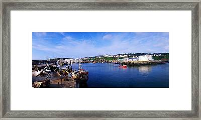 Fishing Harbour, Dunmore East, Ireland Framed Print by The Irish Image Collection