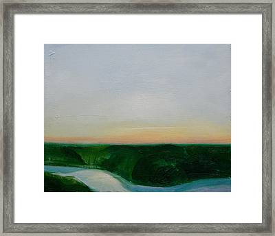 Fishing In The Midnight Sun. Framed Print by Ingimar Waage
