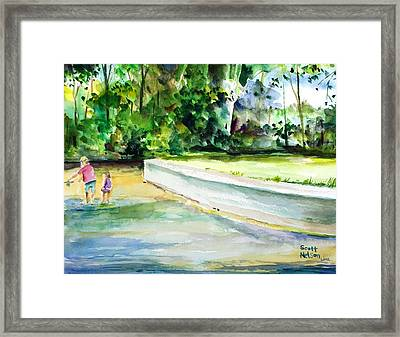 Fishing Lessons  Framed Print by Scott Nelson