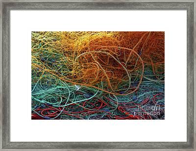 Fishing Nets Framed Print by Carlos Caetano