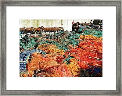 Fishing Nets Framed Print by Sharon Lisa Clarke