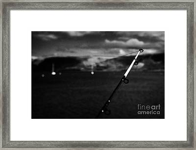 Fishing On The County Antrim Coast Northern Ireland Framed Print by Joe Fox