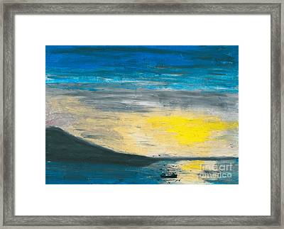 Fishing The Bay Framed Print by R Kyllo