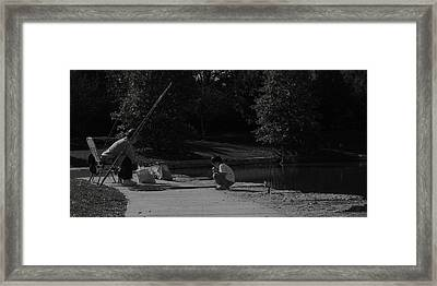 Fishing With Grandpa Framed Print by Anna Villarreal Garbis