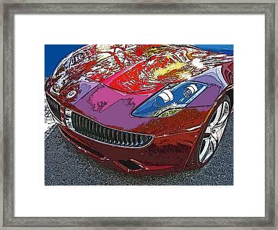 Fisker Karma Hybrid Electric Car Framed Print by Samuel Sheats