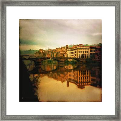 Fiume Arno Framed Print by Li   van Saathoff