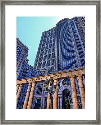 Five Hundred Boylston - Boston Architecture Framed Print by Julia Springer