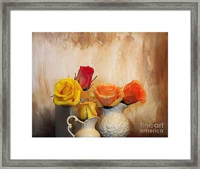 Five Roses Framed Print by Marsha Heiken