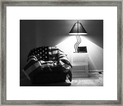 Flag Series No. 2 Framed Print by Julia Pappas