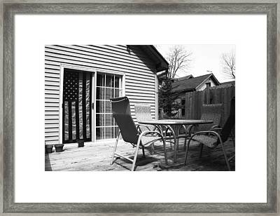 Flag Series No. 3 Framed Print by Julia Pappas