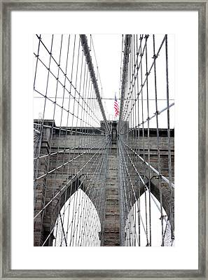 Flagging The Bridge Framed Print by David Bearden