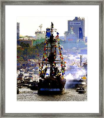 Flags And Fire Framed Print by David Lee Thompson