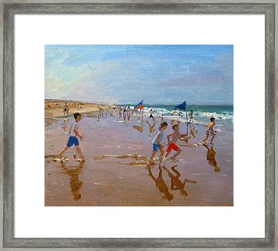 Flags And Reflections Framed Print by Andrew Macara