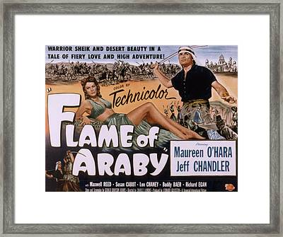 Flame Of Araby, Maureen Ohara, Jeff Framed Print by Everett