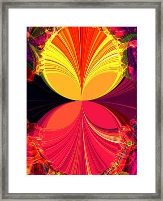 Flamed Framed Print by Jan Steadman-Jackson