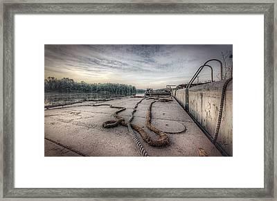 Flatboat Takeoff Framed Print by Everet Regal